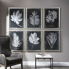 Mesmerize Hand Painted Canvas | Uttermost Wall Art Sets, Wall Art Prints, Framed Prints, Black And White Frames, Framed Art, Picture Frames, Graphic Art, Gallery Wall, Artwork