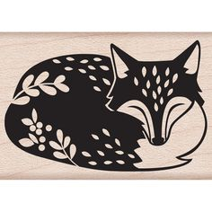 Hero Arts Woodblock Stamp By Lia Griffith - Sleeping Fox - Click to enlarge
