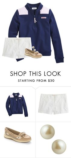 """""""It's almost too warm for Shep Shirts"""" by preppy-ginger-girl ❤ liked on Polyvore featuring J.Crew, Sperry and Carolee"""