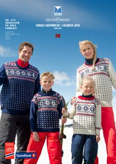 Skigenser til hele familien – Dale Garn Hand Knitting, Knitting Patterns, Norwegian Style, Free Pattern Download, Cross Country Skiing, Pattern Books, Knitting Projects, Norway, Christmas Sweaters