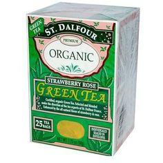 St Dalfour Organic Green Tea Strawberry Rose (1x25 Tea Bags)