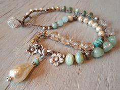 Pearl Boho crochet necklace ' Bohemian Belle' von slashKnots