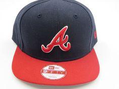 Atlanta Braves Blue 9FIFTY MLB Authentic New Era Snapback Hat #NewEra…