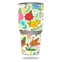 Flower Garden YETI 30 oz Rambler Tumbler Skin https://www.mightyskins.com/ #MightySkins #YETI