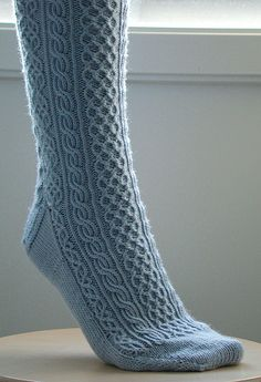 Cable stitched socks.
