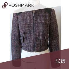 Bebe moto jacket tweed Dress form pics. bebe Jackets & Coats Utility Jackets