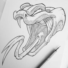 Potential FAMU logo redesign – Graffiti World Art Drawings Sketches Simple, Animal Sketches, Pencil Art Drawings, Cartoon Drawings, Animal Drawings, Cool Drawings, Cartoon Art, Snake Drawing, Snake Art