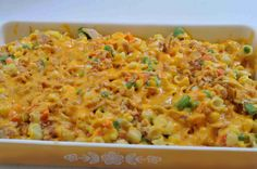 Country Casserole--looks yummy, I would probably use fat free soup, shredded cheese and whole wheat pasta to make it lighter. Pasta Dishes, Food Dishes, Main Dishes, Side Dishes, Great Recipes, Dinner Recipes, Favorite Recipes, Yummy Recipes, Breakfast Recipes