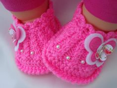 Crochet Baby Shoes Baby Booties Girl Knitted Shoes by Solnishko42, $15.00