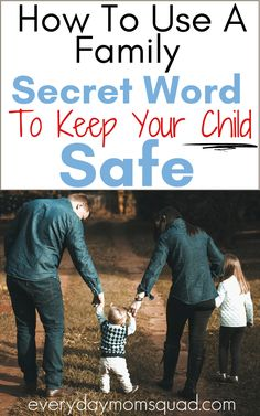 Learn how to keep you child safe using a family safe word. Teaching kids safety and learn how to trust their instinct. Teach your child this very important safety tip, that goes beyond the basic child safety. #kidssafety #childsafety #keepkidssafe # safetyforkids