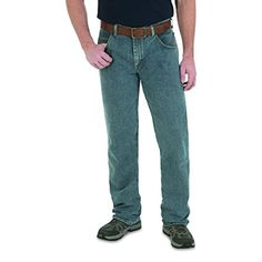 Wrangler Men's Rugged Wear Advanced Comfort Straight Fit Pant (Bleached Indigo, Size - Men's Denim And Basics, Men's Casual Jeans at Academy S. Mens Casual Jeans, Jeans Fit, Jeans Pants, Mom Jeans, Men Casual, Rugged Men, Light Denim, Men's Denim, Fitness