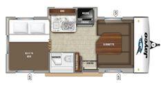 New 2019 Jayco Hummingbird Travel Trailer - A U-shaped dinette for family dinners! Jayco Travel Trailers, Travel Trailers For Sale, Camping Trailers, Van Camping, Camping Hacks, Rv Vehicle, Rv Floor Plans, Kayak Storage Rack, Cargo Trailer Conversion