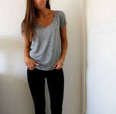 Comfy and simple...this is pretty much what I wear to work every. single. day. (In the winter at least:))