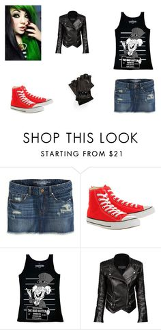 """""""Untitled #264"""" by sexipandagirl ❤ liked on Polyvore featuring American Eagle Outfitters, Converse, Disney, Balmain and MICHAEL Michael Kors"""