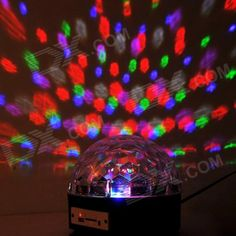 KX-DM11 Projector DJ Disco Light MP3 Remote Stage Laser Lighting Show Party Christmas - Black