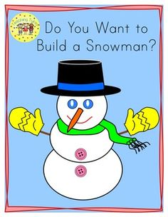 "Brr! Here's a cool freebie for your little tykes.  Eight coloring pages to help practice color words.  AND the same eight pages without the blue background to save ink; now you have a choice!  This freebie goes along with my Winter Math and Literacy packet which includes 118 pages of winter goodies, and ""The Snowman Has!"" Emergent Reader and Winter Count & Clip Cards!"