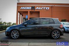 Low N Wide: VW Golf GTI MK 6 Gets H&R Cup Kit & Spacers at ModAuto