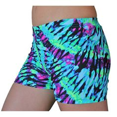 Neon Tie Dye Spandex Shorts Inseam in 3 Lengths Volleyball Spandex Shorts, Nike Spandex, Volleyball Outfits, Nike Pro Shorts, Gym Shorts Womens, Sporty Outfits, Athletic Outfits, Cute Outfits, Athletic Wear