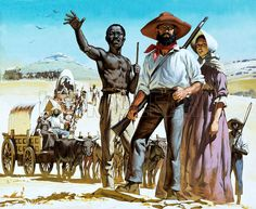 The Story of Africa: The Great Trek. The Boers set out to colonise the whole of South Africa, the first colonists setting out for the interior across the veldt from Cape Colony in History Images, Us History, African History, The Veldt, Union Of South Africa, Cape Colony, Best Documentaries, West Africa, Military History