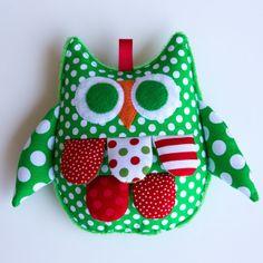 .: Christmas Baby Crinkle Sensory Owl Toy