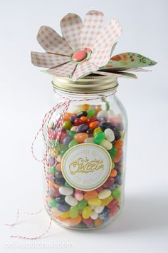 Paper Flower Mason Jar