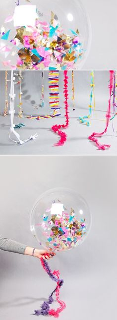 Fill balloons with confetti and pop them at midnight for New Years. Or for anything, really.