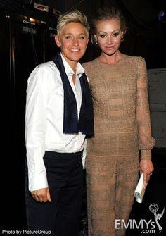 Ellen DeGeneres and Portia de Rossi at the 64th annual Primetime Emmy Awards