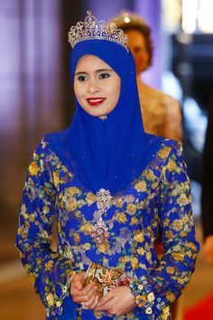 Princess Sarah of Brunei arrives for a dinner with members of the Royal Family at the Rijksmuseum in Amsterdam.