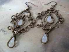 Moonstone Magic Earrings by LeahDAmour on Etsy, $30.00