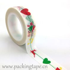 Colored Christmas heart #www.packingtape.cn#