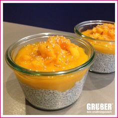 Dessert oder Frühstück mit Chia Samen. Ohne Zucker, glutenfrei, vegan und lecker.