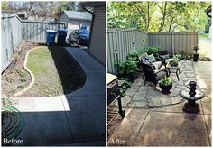 Love this before and after side yard re-do.