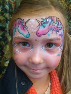 Unicorns face painting! Plus this girl for the win, look at here face