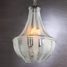 39 best modern crystal clear glass lighting images on pinterest frosted stripe glass chandelier aloadofball Gallery