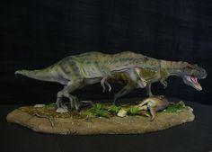 Tarbosaurus with dead Therizinosaurus by Baryonyx-walkeri.deviantart.com on @deviantART