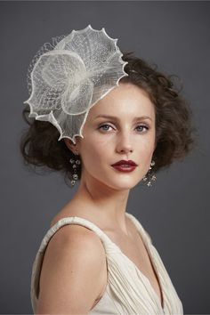 Nelumbo Headband at BHLDN. pretty awesome.. it's like wearing a sea creature