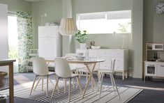 large dining room with table white and solid birch tables chairs amp more ikea Low Back Dining Chairs, Ikea Dining Table, Acrylic Dining Chairs, Rattan Dining Chairs, White Dining Chairs, Leather Dining Chairs, Contemporary Dining Chairs, Upholstered Dining Chairs, Dining Room Furniture