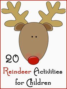 Santa Clauss reindeer form an imaginary team of flying reindeer traditionally… Reindeer Song, Reindeer Handprint, Reindeer Head, Reindeer Craft, Reindeer Games, Christmas Math, Christmas Themes, Christmas Crafts, Christmas Stencils