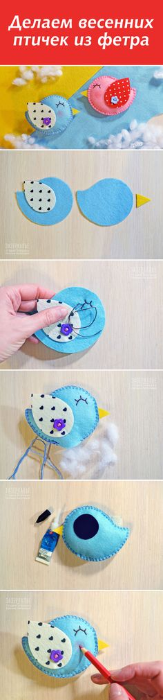 felt crafts Ideas, Craft Ideas on felt crafts Felt Diy, Felt Crafts, Fabric Crafts, Sewing Crafts, Sewing Projects, Hobbies And Crafts, Diy And Crafts, Baby Mobile, Felt Birds