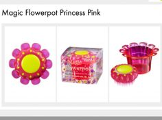 Magic Flower pot - tangle teezer  a hair brush for young girls/baby girls to comb their hair to always look cute and beautiful!  buy now: www.angelopouloshair.com