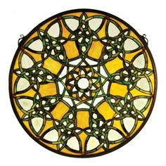 Meyda Tiffany Victorian Fleuring Medallion Stained Glass Window & Reviews | Wayfair