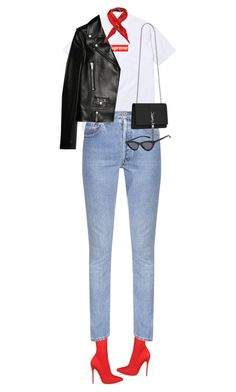 """""""Untitled #768"""" by sofiaskippari ❤ liked on Polyvore featuring Vetements, Yves Saint Laurent and Hermès"""