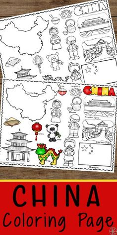 FREE China Coloring Pages - kids will have fun learning about china with these free printable coloring sheets. This is a great way to learn about countries around the world with kids and to go along with a geography study Free Printable Coloring Sheets, Coloring Sheets For Kids, Toy Story Coloring Pages, Free Coloring Pages, Spring Activities, Preschool Activities, Geography Activities, China For Kids, Geography For Kids