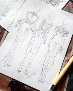 Oil painting Flowers art couple painting on canvas red rose canvas skull flower painting canvas painting places Fashion Drawing Tutorial, Fashion Illustration Tutorial, Fashion Figure Drawing, Fashion Drawing Dresses, Fashion Illustration Dresses, Illustration Mode, Fashion Dresses, Dress Design Drawing, Dress Design Sketches
