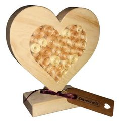 Zirbenholz Herz gefüllt mit Zirbenspäne Zirbenrosen zum Muttertag oder für Verliebte