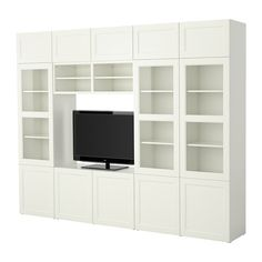 BESTÅ TV storage combination IKEA Drawers made partly of tempered glass; the remote control works through the glass.