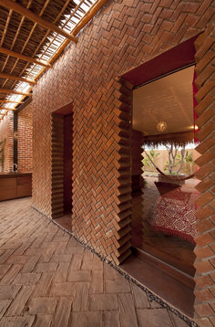 Brick bearing wall with an unconventional way of creating door openings at Casa Tabique in La Paz by TAC Taller de Arquitectura Contextual. Brick Architecture, Architecture Details, Interior Architecture, Tectonic Architecture, Workshop Architecture, Brick Interior, Amazing Architecture, Design Exterior, Brick Design