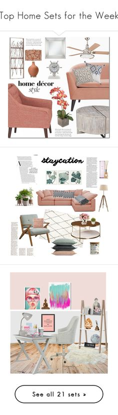 """Top Home Sets for the Week"" by polyvore ❤ liked on Polyvore featuring interior, interiors, interior design, home, home decor, interior decorating, Jennifer Taylor, Kichler, Universal Lighting and Decor and homedecor"