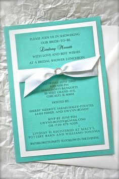 SUE's RESERVED ORDER Bridal Shower Invitations by FairestLJ