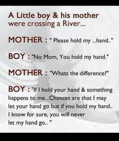 A mother's love for her children. A true mother always think of her child before herself.